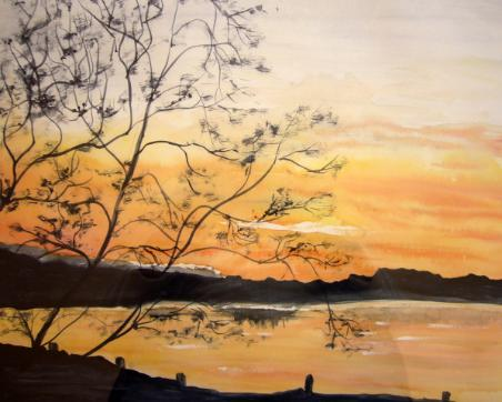 waterr painting - Campoverde sunset